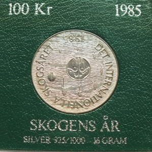 100 kronor Internationella Skogsaret 1985