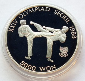 5000 won Seul 1988 - Karate