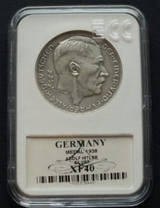 Silver Medal 1938 annexation of Austria Adolf Hitler