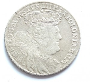 8 groszy August III 1753 (bez EC) - rzadka